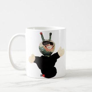 Behalten Sie lächelndes alien Kaffeetasse