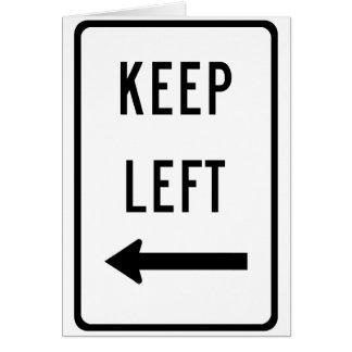 Behalten Sie links Zeichen Karte