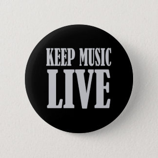 Behalten Sie Musik-Liveknopf Runder Button 5,7 Cm