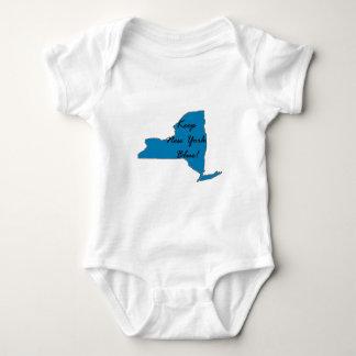 Behalten Sie New York blau! Demokratischer Stolz! Baby Strampler