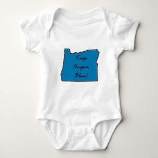 Behalten Sie Oregon blau! Deomcratic Stolz! Baby Strampler