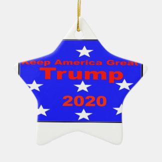 Behalten Sie politischen Slogan Amerikas große… Keramik Ornament