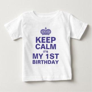 BEHALTEN Sie RUHE-1. GEBURTSTAGS-BABY-JUNGEN Baby T-shirt