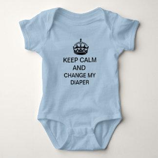 Behalten Sie Ruhe Baby Strampler