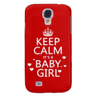 Behalten Sie Ruhe, die es ein Baby-Mädchen ist Galaxy S4 Hülle