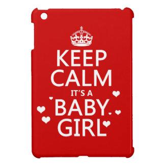 Behalten Sie Ruhe, die es ein Baby-Mädchen ist iPad Mini Hülle