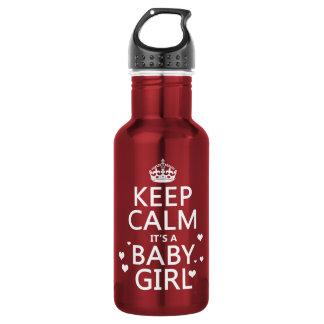Behalten Sie Ruhe, die es ein Baby-Mädchen ist Trinkflasche