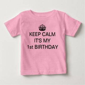 BEHALTEN Sie RUHE, die ES MEIN 1. Baby T-shirt
