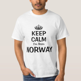 Behalten Sie Ruhe, die ich aus Norwegen komme T-Shirt