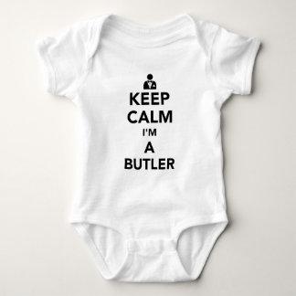 Behalten Sie Ruhe, die ich ein Butler bin Baby Strampler
