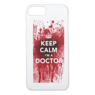 Behalten Sie Ruhe, die ich ein Doktor Blut-Spatted iPhone 8/7 Hülle