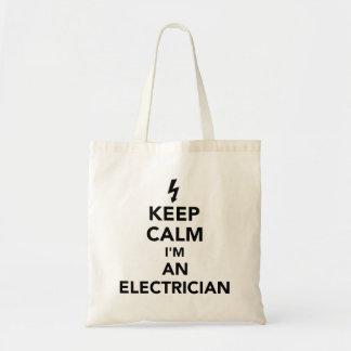 Behalten Sie Ruhe, die ich ein Elektriker bin Tragetasche