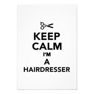 Behalten Sie Ruhe die ich ein Friseur bin Individuelle Einladungen