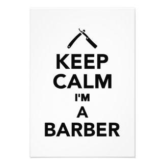 Behalten Sie Ruhe die ich ein Friseur bin Personalisierte Ankündigungskarte