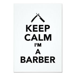Behalten Sie Ruhe, die ich ein Friseur bin Personalisierte Ankündigungskarte