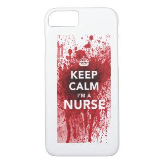 Behalten Sie Ruhe, die ich ein Krankenschwester iPhone 8/7 Hülle