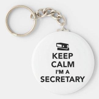 Behalten Sie Ruhe, die ich ein Sekretär bin Schlüsselanhänger