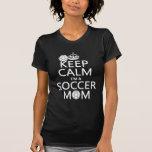 Behalten Sie Ruhe, die ich eine Fußball-Mamma bin  T Shirt