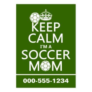 Behalten Sie Ruhe, die ich eine Fußball-Mamma bin Visitenkarte