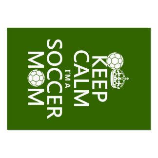 Behalten Sie Ruhe, die ich eine Fußball-Mamma bin Visitenkarten Vorlage