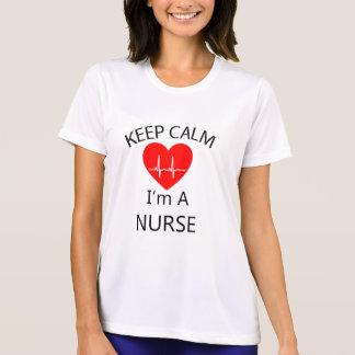 Behalten Sie Ruhe, die ich eine Krankenschwester T-Shirt