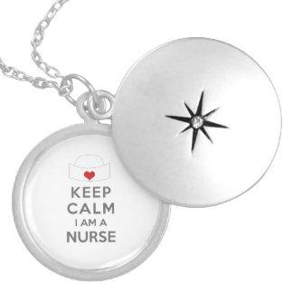 Behalten Sie Ruhe, die ich eine Krankenschwester Versilberte Kette