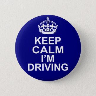 Behalten Sie Ruhe, die ich Knopf fahre Runder Button 5,7 Cm