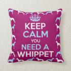 Behalten Sie Ruhe, die Sie ein Whippet benötigen Kissen