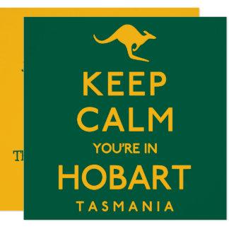 Behalten Sie Ruhe, die Sie in Hobart sind! Karte
