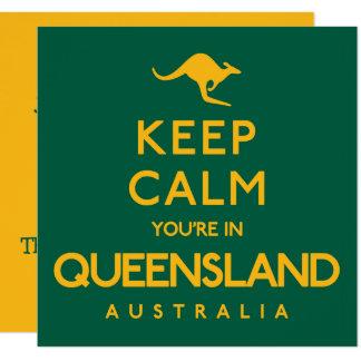 Behalten Sie Ruhe, die Sie in Queensland sind! Karte