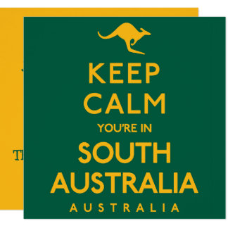 Behalten Sie Ruhe, die Sie in Südaustralien sind! Karte