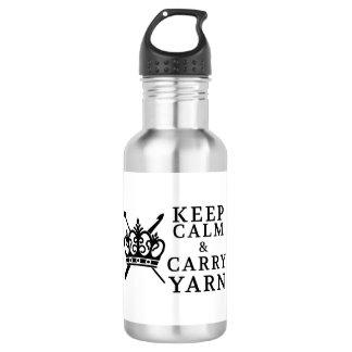 Behalten Sie Ruhe, Garn zu tragen Trinkflasche