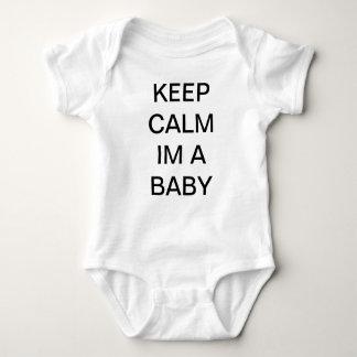 BEHALTEN SIE RUHE IM EIN BABY BABYGROW T-SHIRT