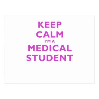Behalten Sie Ruhe Im ein medizinischer Student Postkarte