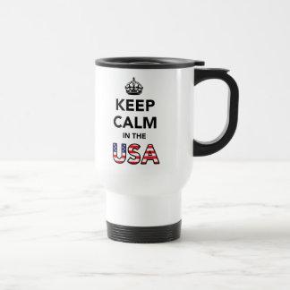 Behalten Sie Ruhe in den USA Reisebecher