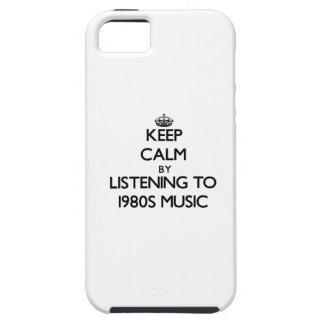 Behalten Sie Ruhe, indem Sie Achtzigerjahre MUSIK iPhone 5 Hüllen