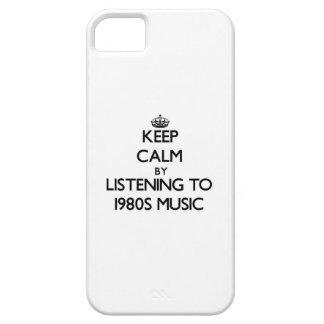 Behalten Sie Ruhe, indem Sie Achtzigerjahre MUSIK iPhone 5 Etui