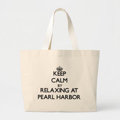 Behalten Sie Ruhe, indem Sie am Pearl Harbor Leinentasche