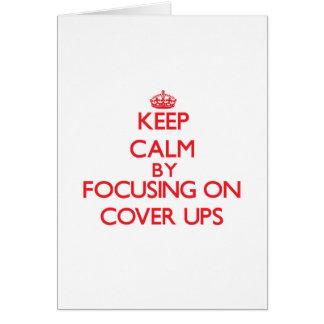 Behalten Sie Ruhe indem Sie auf Abdeckung-UPS Karte