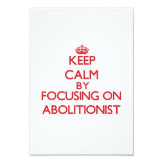 Behalten Sie Ruhe, indem Sie auf Abolitionisten 8,9 X 12,7 Cm Einladungskarte