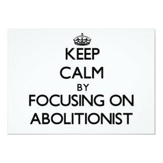 Behalten Sie Ruhe, indem Sie auf Abolitionisten Personalisierte Ankündigungen