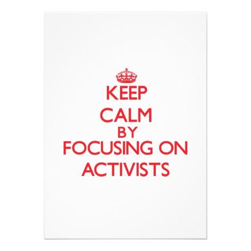 Behalten Sie Ruhe, indem Sie auf Aktivisten sich Personalisierte Einladungskarten