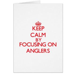 Behalten Sie Ruhe, indem Sie auf Angler sich Grußkarte