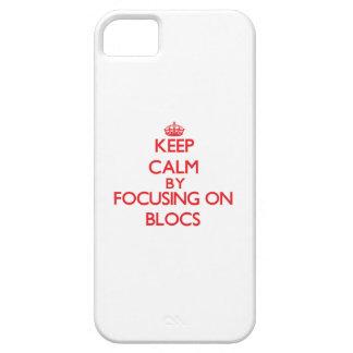 Behalten Sie Ruhe, indem Sie auf Blöcke sich Hülle Fürs iPhone 5