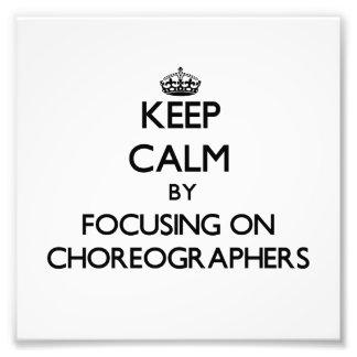 Behalten Sie Ruhe indem Sie auf Choreografen sich