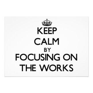 Behalten Sie Ruhe indem Sie auf die Arbeiten sich