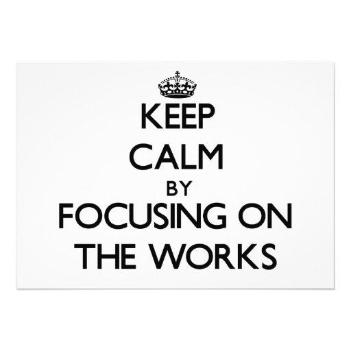 Behalten Sie Ruhe, indem Sie auf die Arbeiten sich Personalisierte Ankündigungen