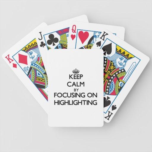 Behalten Sie Ruhe, indem Sie auf die Hervorhebung Poker Karten