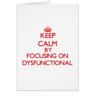 Behalten Sie Ruhe, indem Sie auf dysfunktionelles Karten