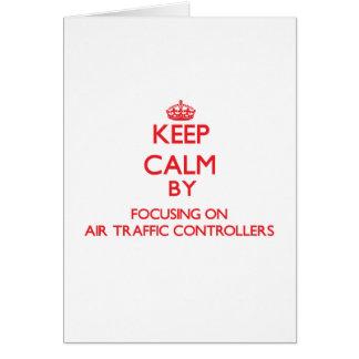 Behalten Sie Ruhe, indem Sie auf Fluglotsen sich Grußkarte